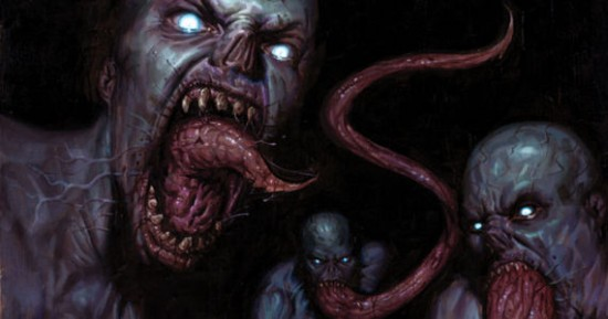 "The vampires in ""The Strain"" comics."