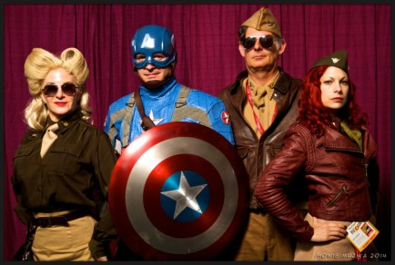 Captain America and Friends - SDCC 2014 - Photo: Howie Muzika
