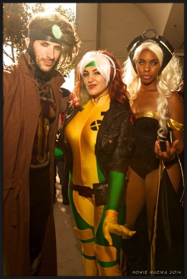 Gambit, Rogue, Storm - SDCC 2014 - Photo: Howie Muzika