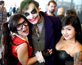 Harley Quinn, The Joker and Friend – Comiccon de Québec 2014 – Photo by Geeks are Sexy