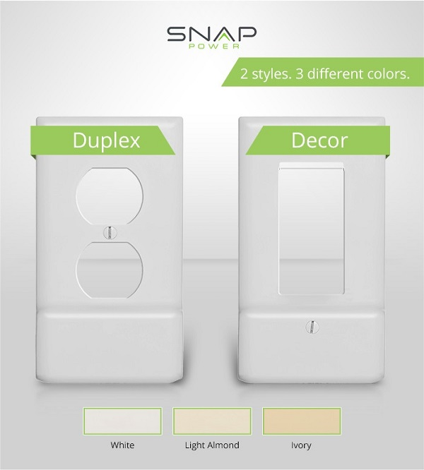 SnapPower USB Outlet styles