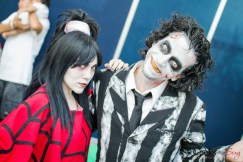Beetlejuice and Lydia - San Diego Comic-Con 2015 - Photo by Geeks are Sexy