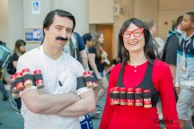 Bob and Linda Belcher from Bob's Burgers - San Diego Comic-Con 2015 - Photo by Geeks are Sexy