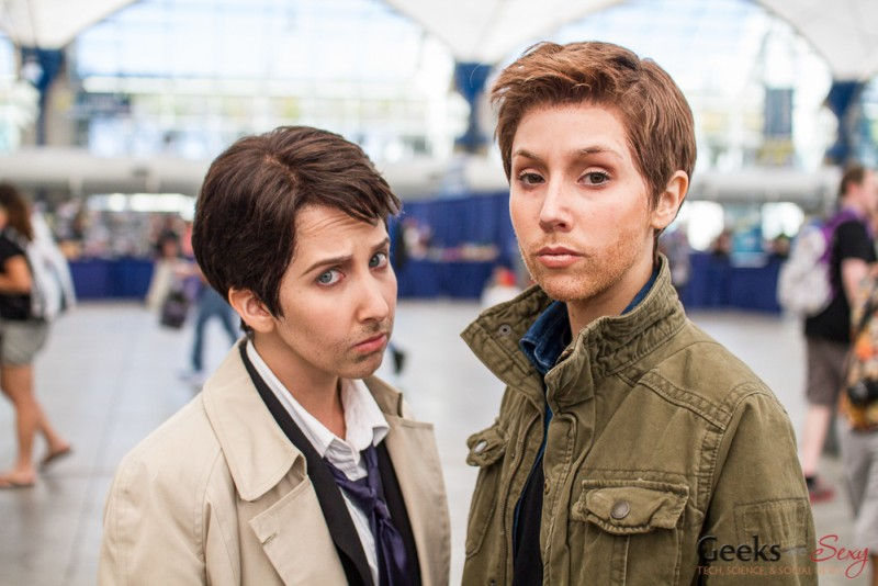 Castiel and Dean from Supernatural - San Diego Comic-Con 2015 - Photo by Geeks are Sexy