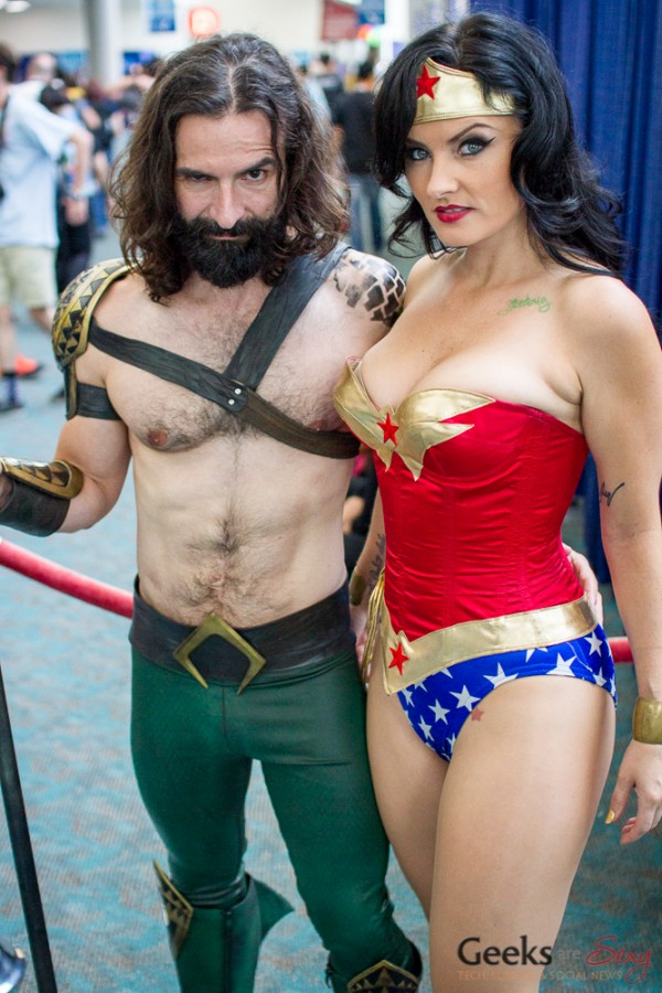 Aquaman and Wonder Woman - San Diego Comic Con 2015 - Photo by Geeks are Sexy