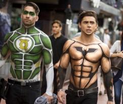 Green Lantern and Batman Body Paints - San Diego Comic-Con 2015 - Photo by San Diego Comic-Con 2015 - Photo by San Diego Shooter