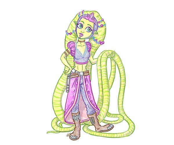 Twi'lek Rapunzel