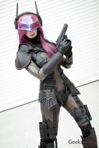 PlayArts Kai Catwoman - Hollita Cosplay - London Super Comic Con 2016 - Photo by Geeks are Sexy