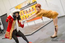Hook and Tink - Valentine cosplay and Mary Cherry - - London Super Comic Con 2016 - Photo by Geeks are Sexy