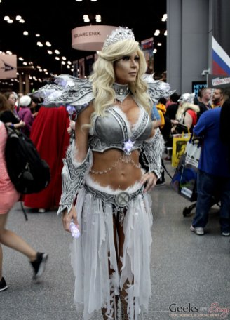 Battle Emma Frost by Ireland Reid - New York Comic Con 2016 - Photo by Geeks are Sexy
