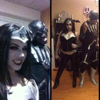 Roxane and Vladimir and Vampire Wonder Woman and Zombie Flash