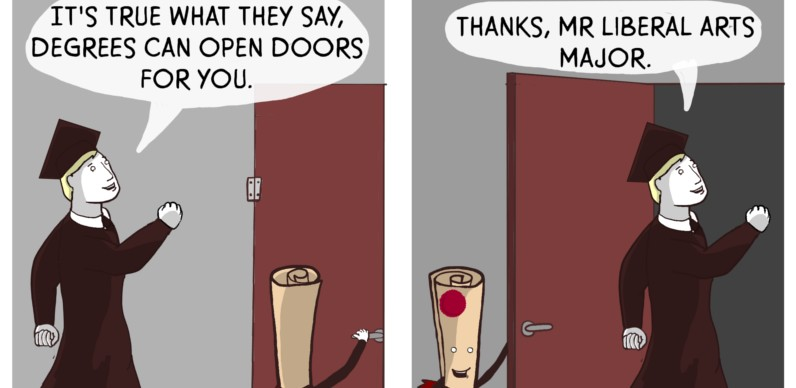 Degrees Can Open Doors For You Comic