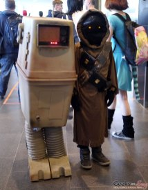 Jawa and GNK power droid (Gonk Droid) – Quebec City Comic Con 2017 – Photo by Geeks are Sexy