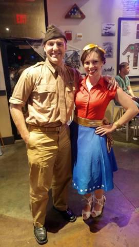 Allison as Wonder Woman and Steve Trevor