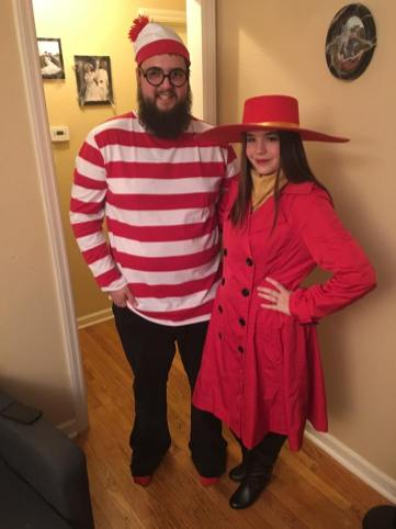 Amber as Carmen Sandiego with Waldo