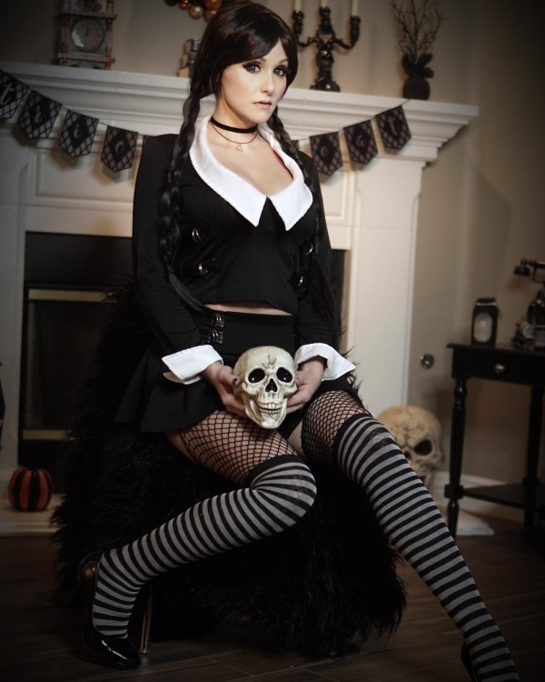 Angie as Wednesday Addams