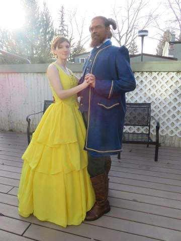 Sarah and Husband - Beauty and the Beast