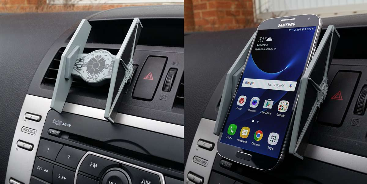 IT EXISTS: A TIE Fighter Universal Smartphone Car Mount