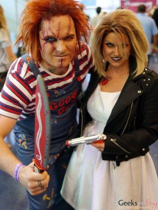 Chucky and Bride - Montreal Comiccon 2018 - Picture by Geeks are Sexy