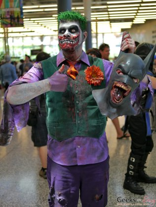 The Joker and Batman - Montreal Comiccon 2018 - Picture by Geeks are Sexy