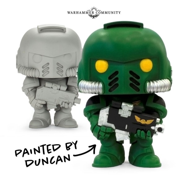 "Funko Releases a ""Paint Yourself"" Warhammer 40K Pop Vinyl Intercessor Ultramarine"