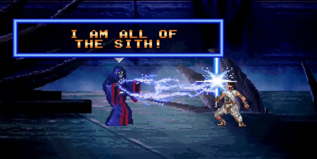 The Rey Ben Solo Vs Palpatine Fight Done 16 Bit Style Video