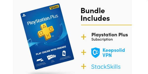 INCREDIBLE DEAL: Get 1 Year of Playstation Plus, Lifetime Access to KeepSolid VPN, and Access to OVER 1,000 Online Courses for UNDER $70!