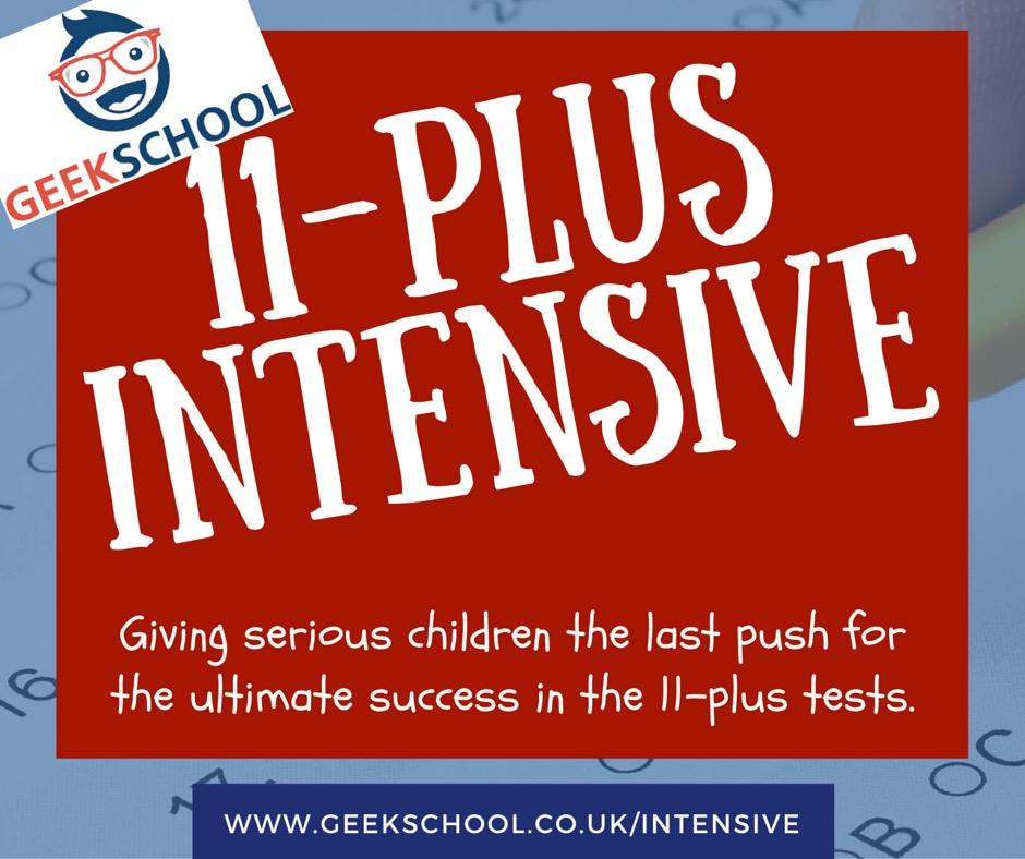 Geek School 11-Plus intensive