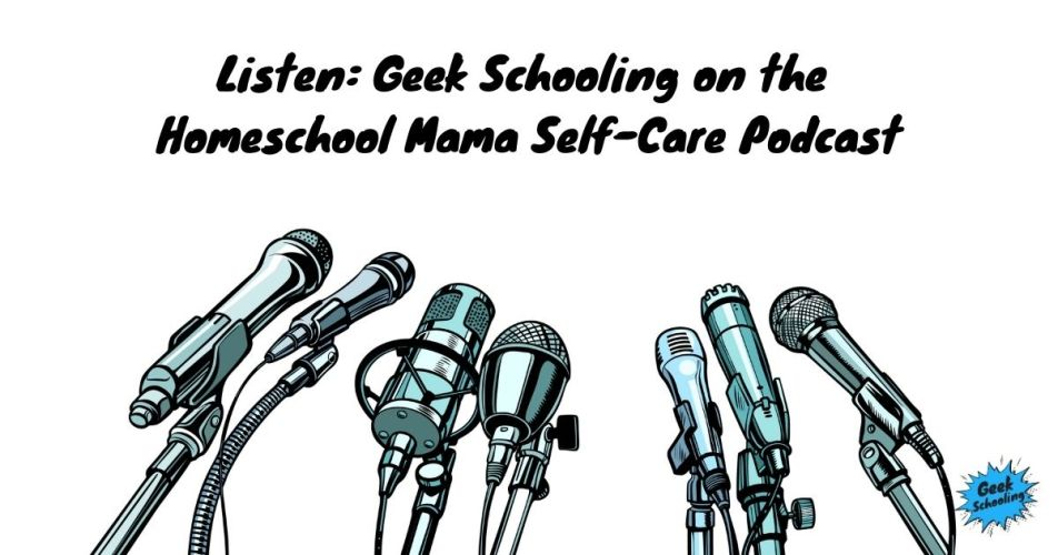 Listen: Geek Schooling on the Homeschool Mama Self-Care Podcast