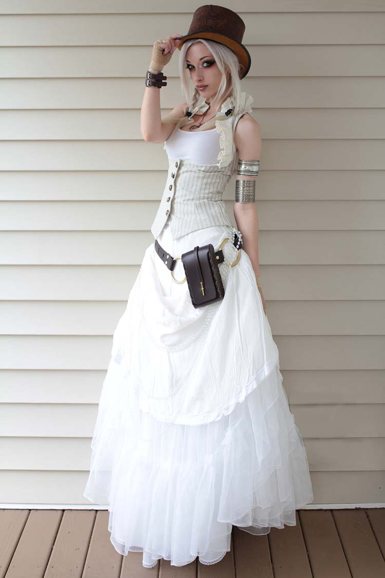 Kato Steampunk Dress White Dress Kato