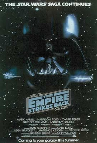 Star Wars Movie Poster from Episode 5 Empire Strikes Back Teaser