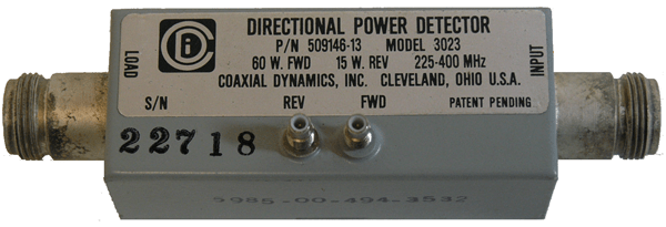 Directional Power Detector by Coaxial Dynamics