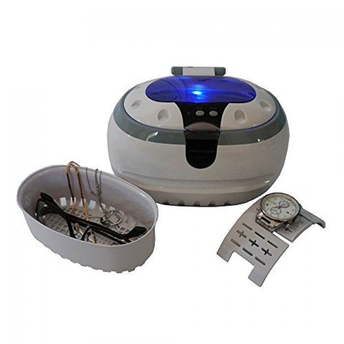 Image result for 3.Generic Sonic Wave CD-2800 Ultrasonic Jewelry & Eyeglass Cleaner, White/Gray: