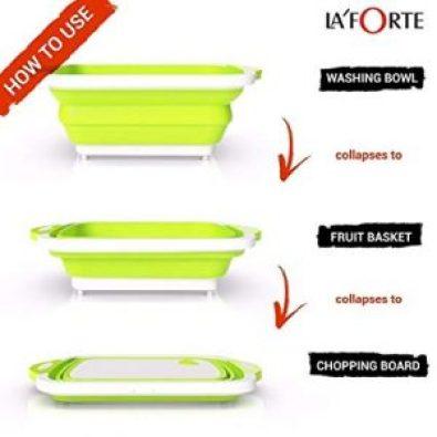 La Forte Cutting Chopping Board/Washing Bowl (Multipurpose)