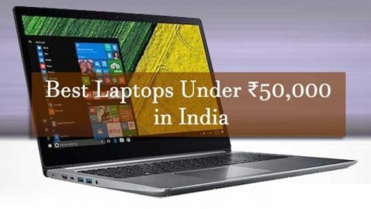 Best laptops under 50000 in india