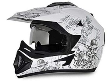Vega Off Road w1 Motorsports Helmet with Single Visor