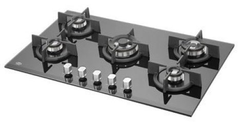 Kaff Tempered Glass 5 Burner Hob Gas Stove