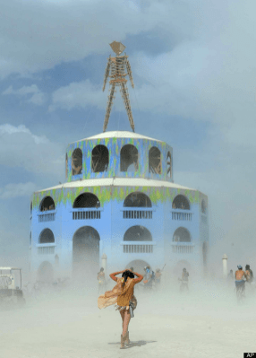 Alien like structures at Burning Man