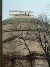 Wright Brothers plane replica on top of the Great Dome