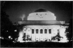 MIT dome turned into Great Pumpkin