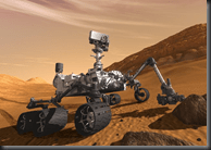 Artist conception of Mars Curiosity Rover