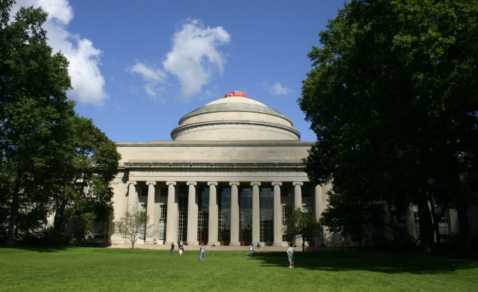 Full-size ambulance on top of the Great Dome at MIT