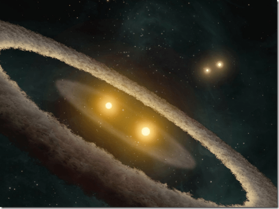 Four-star planetary system