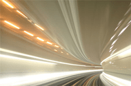 Speed and speeding through a tunnel