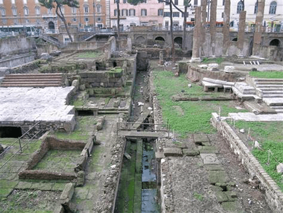 The site where Roman leader Julius Caesar was assassinated