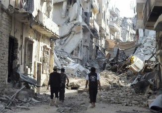 Damage from Syrian Civil War