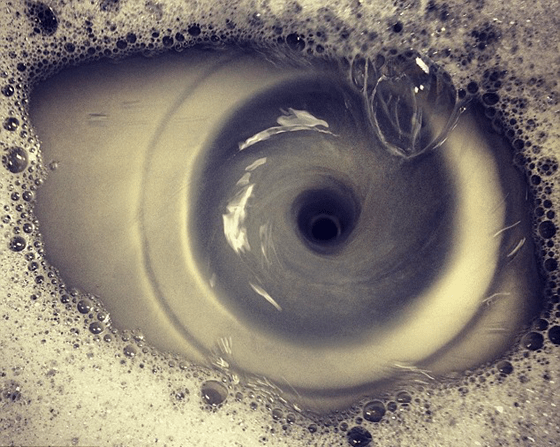 Eyeball that's really a sink draining