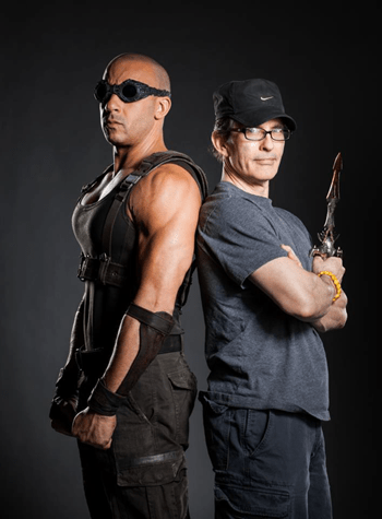 Van Diesel reprises his role as Riddick (2013)