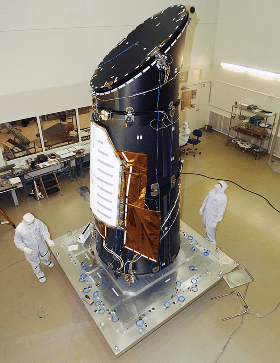 The Kepler telescope - used to hunt for exoplanets