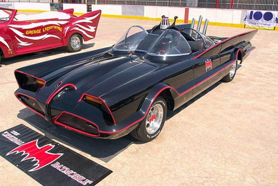 Original Batmobile car from the Batman television series